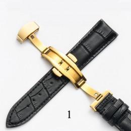 Pasek do zegarka z prawdziwej skóry z opaskami motylkowymi bransoletka z ziarnem Croco do zegarka Pulseira o rozmiarze 14 16 18