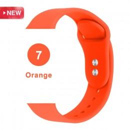 Silikonowy zegarek sportowy pasek na Apple Watch Strap 5 4 3 2 1 38MM 42MM pasek do zegarka pasek do iwatch 40mm 44mm silikonowa