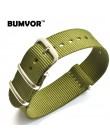 1 sztuk 16 18 20 22 24mm wiele kolorów nylon nato zegarek wojskowy pasek armia Sport Link bransoletka wrist watchband akcesoria