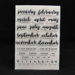 ZFPARTY Monthes przezroczysty pieczęć silikonowa/pieczęć do scrapbookingu/ozdobny album na zdjęcia tworzenie kartek