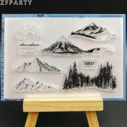 ZFPARTY Forest Mountain przezroczysty pieczęć silikonowa/pieczęć do DIY scrapbooking/ozdobny album na zdjęcia tworzenie kartek