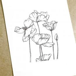 Kwiat lotosu wyczyść znaczki guma przezroczysty znaczki silikonowe Scrapbooking do tworzenia kart Album fotograficzny Craft Deco