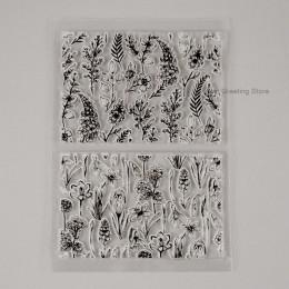 Eno powitanie wyczyść znaczki tło z kwiatami znaczki na ozdoby do robienia kartek bezszwowe przezroczyste tamps