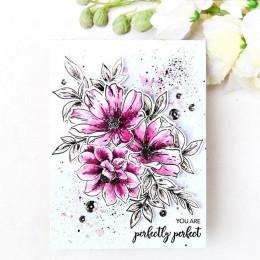 Kwitnące kwiaty przezroczysta pieczęć silikonowa uszczelka do album na zdjęcia diy do scrapbookingu dekoracyjne karty wyczyść pi