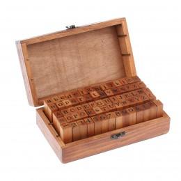 70 sztuk/zestaw ciemny brąz rocznika drewniane małe litery alfabetu pieczątek pieczęć zestaw wysokiej jakości, drewno, znaczek,