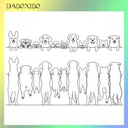 DABOXIBO słodkie zwierzaki wyczyść znaczki dla DIY Scrapbooking/tworzenie kartek/Album fotograficzny silikonowe dekoracyjne ręko