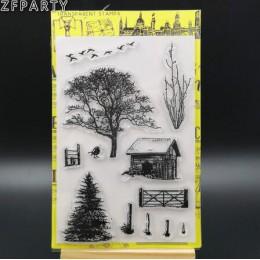 ZFPARTY drzewa tło przezroczysty pieczęć silikonowa/pieczęć do DIY scrapbooking/ozdobny album na zdjęcia tworzenie kartek