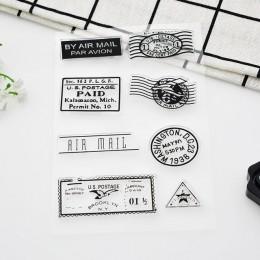 1 arkusz Vintage Postmark Craft wyczyść znaczki Scrapbooks silikonowa przezroczysta znaczki do scrapbookingu/Album fotograficzny