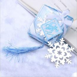 1pc piękne kreatywne metalowe zakładki do książek świąteczne zajęcia prezenty płatki śniegu miłość motyl zakładki dzieci śliczne