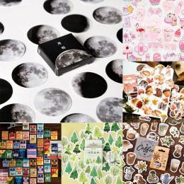 45 sztuk/pudło papeterii naklejki Vaporwave DIY planeta rolka do czyszczenia ubrań Kawaii księżyc rośliny naklejki do dekoracji