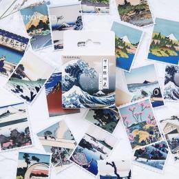 45 sztuk/pudło japoński widok naklejki na etykiety zestaw dekoracyjne naklejki papiernicze Scrapbooking Diy pamiętnik Album Stic