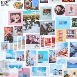 40 sztuk/partia kawaii naklejki Vintage INS zdjęcie naklejki do dekoracji Srapbooking Bullet Journal papiernicze naklejki dziewc