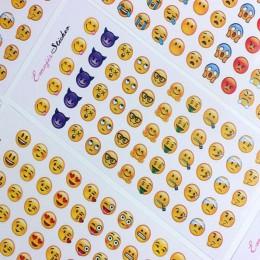 3 sztuki/12 sztuk śliczne naklejki pamiętnik ręka konto Smiley naklejki zaskoczony/zabawny/smutny
