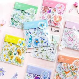 45 sztuk/worek Kawaii Bullet Journal śliczne pamiętnik naklejki z kwiatami Scrapbooking japoński biurowe dekoracje Chancery mate