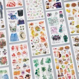 3 arkusze/opakowanie podróż i jedzenie dekoracja w stylu vintage naklejki Washi dekoracyjne przyklejane etykiety naklejki do pam