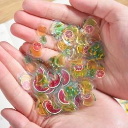 100 sztuk/paczka Mini przezroczyste 3D pcv kryształowe cukierki naklejki kreatywne zwierząt delfin owoce kot dekoracyjna naklejk