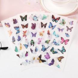 6 sztuk/opakowanie przezroczyste naklejki pcv piękny motyl dekoracyjny Album cienka sypialnia dla dzieci naklejki dekoracyjne