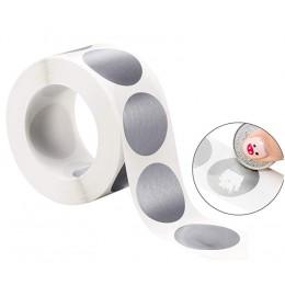 300 sztuk okrągły srebrny Scratch Off naklejki 1 Cal Scratch Off etykiety naklejki na imprezę aktywność sprzyja papeterii naklej