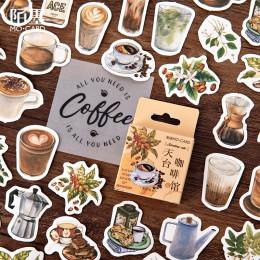 45 sztuk/paczka Vintage dachu kawiarnia zestaw naklejek naklejki do scrapbookingu dla Journal Planner Diy rzemiosło Scrapbooking