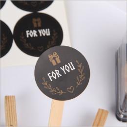120 sztuk/partia Cute dla ciebie naklejka uszczelniająca okrągły czarny naklejka uszczelniająca Mutifunction DIY ozdobne prezent