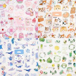 46 sztuk/pudło Kawaii naklejki z kotami śliczne naklejki papiernicze Bullet naklejki do dziennika dla dzieci DIY pamiętnik dekor