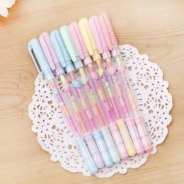 Kreatywny Korea styl piśmienne piękne kolorowe Rainbow długopisy żelowe moda biuro szkolne pisanie długopisy malowanie długopisy