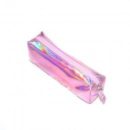 Holograficzny opalizujący piórnik w laserowych kolorach jakość PU szkoła dla dziewczynek chłopiec szkolne artykuły papiernicze ł