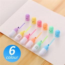 6 sztuk/partia kapsułki wyróżnienia witamina Pill wyróżnij Marker DIY kolor pióra do pisania biuro szkolne