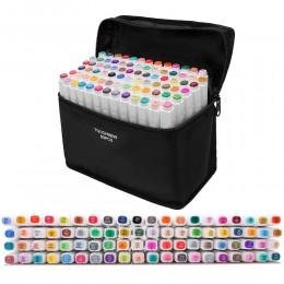 Touchfive markery zestawy markery do rysowania zestaw malarski pisak do szkicowania zestaw 24/30/48/60/80/168 kolory do szkolne