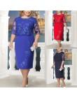 Rimiut 5XL 6XL kobiety lato jesień duży rozmiar sukienka elegancka koronka sukienka kobiet duże rozmiary suknie wieczorowe vesti