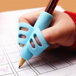 Dwupalcowy ołówek TPR i obsadka do pióra 3 kawałki pisania narzędzie do korekcji szkolenia pióro trzyma zestaw wsporników szkoły