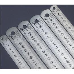 Linijka stalowa grubsze materiały kreślarskie narzędzia metalowe linijka podwójna do biura i szkoły kawaii