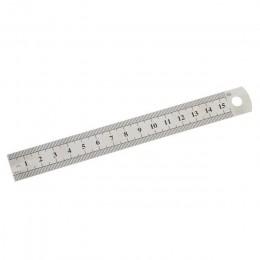 1 Pc 15cm 6 Cal stal nierdzewna Metal linijka prosta precyzja dwustronna nauka materiały biurowe opracowanie dostaw