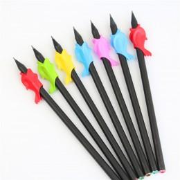 5pc przedszkolaków uczniowie trzymają pióro urządzenie do trzymania pióra korektor pisanie ołówkiem narzędzie żel krzemionkowy