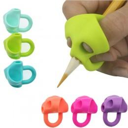 3pc magiczny uchwyt ołówek pomoc początkujący pisanie silikonowe zabawki dziecko podwójne kciuk korekta postawy pióro narzędzie