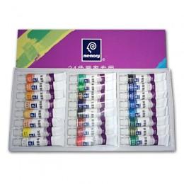 12/18/24 kolory 12ML tuba zestaw farb akrylowych lakier do paznokci artystyczny obraz farba do tkanin narzędzia do rysowania dla
