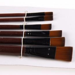 1 zestaw/6 sztuk artystów pędzle nylonowe akrylowe pędzle malarskie na materiały artystyczne zestaw akwarelowy materiały malarsk