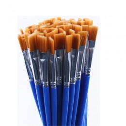 20 sztuk tego samego rozmiaru drobno tkana nylonowe włosy zestaw pędzli do malowania akwarela obraz olejny akrylowy pędzle do ry