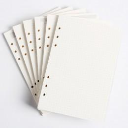 Klasyczne 6 otwory notatnik wewnętrzny rdzeń papierowy/napełnianie dokumenty wewnętrzne: linia, siatka, kropki, lista, codzienni