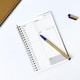 2020 2021 notebooki agendy dziennik z terminarzem tygodniowy Organizer spiralny Libretas A5 notatniki miesięczny papier pakowy h