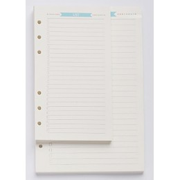 6 otworów luźny notatnik z motywem liścia spiralny planer uzupełnij wewnętrzny papier A5 A6 strony pamiętnik tygodniowy miesięcz