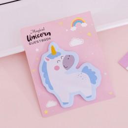 Koreańskie kawaii tęczowa opaska jednorożec kartki samoprzylepne kreatywny Post notatnik śliczne DIY notatnik artykuły biurowe s