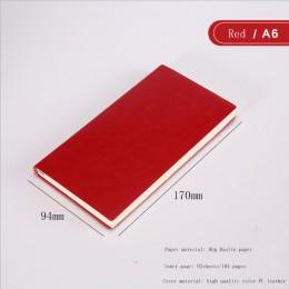 A5 A6 B5 trzy rozmiary 4 style 5 kolorów duży biznes pamiętnik skóra miękka kopia notebook zwiększ gruby notatnik