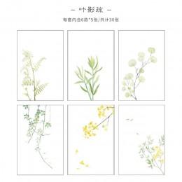 Pan papier 30 sztuk kreatywny Chinoiserie Artsy liście pisanie uwaga rośliny kwiaty notatniki przezroczysty papier luźny liść pa