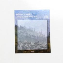 Malarstwo krajobraz notatnik planner kartki samoprzylepne papierowa naklejka notatnik kawaii biurowe pepalaria biurowe artykuły