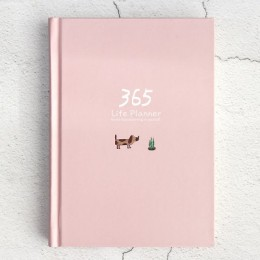 Śliczne biurowe notatnik 365 Planner Kawaii A5 tygodniowy miesięczny dzienny terminarz planer 2020 notebooki lub czasopisma szko