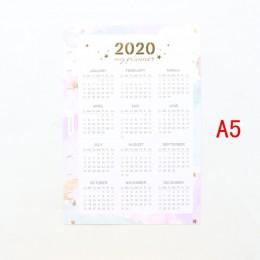 Domikee śliczne 2020 rok kalendarz przegrody papierowe dla 6 pierścienie spoiwa planowanie szkoły notatnik na sprężynie akcesori