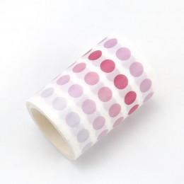 60mm x 3m Element podstawowy dekoracyjna taśma klejąca Dot maskująca taśma washi Diy naklejki scrapbooking etykieta japoński pap
