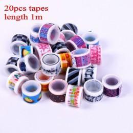 20 sztuk Mini kolorowy zestaw taśm washi wodoodporna malowanie taśma dekoracyjna naklejki diy Scrapbooking etykiety taśmy maskuj