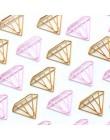 Domikee śliczne kawaii złoty różowy diament kształt biuro szkoła indeks spinacze do papieru zakładki zestaw metalowe memo organi